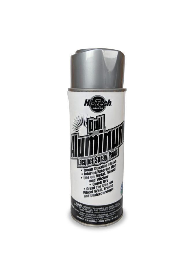 Hi-Tech Dull Aluminum Silver Alloy Spray Paint Image