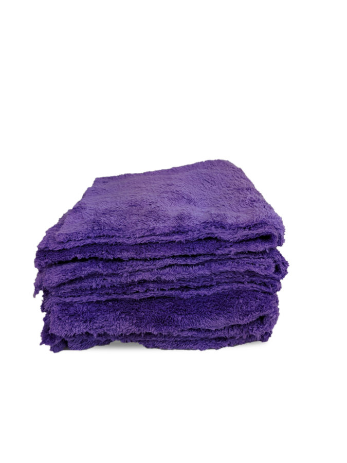 Purple Microfibre Polish Cloth Image