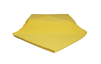 Yellow Microfibre Waffle Drying Towel - 10 Pack Image