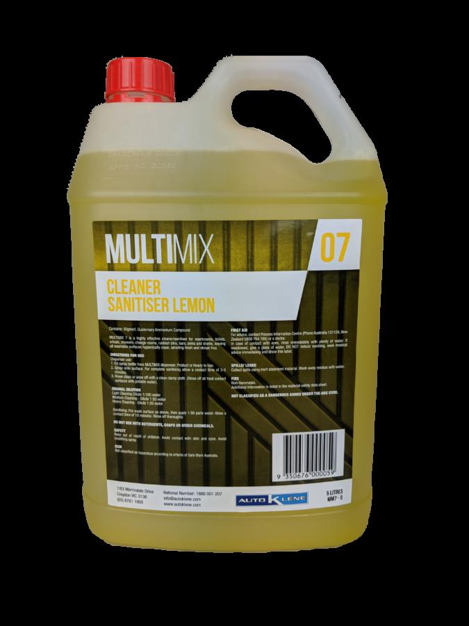 MultiMix 7 - Cleaner & Sanitiser (Lemon) - 5L Image